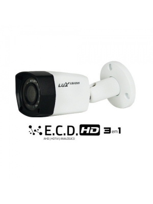 CAMERA AHD BULLET ECD 3X1 20M 1 4 LENTE 2,8MM 1MP LUXVISION